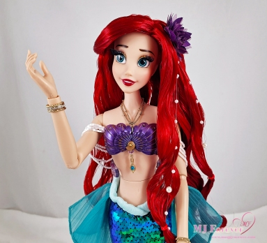 """My three 30th Anniversary Limited Edition 17"""" Ariel Dolls (red mark photoshopped out)"""