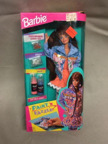 paint n dazzle barbie 1993 (redhead)